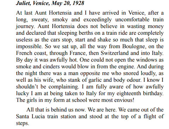 The Venice Sketchbook by Rhys Bowen